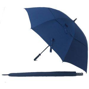 Blue UV Gustbuster Fibre Golf Umbrella