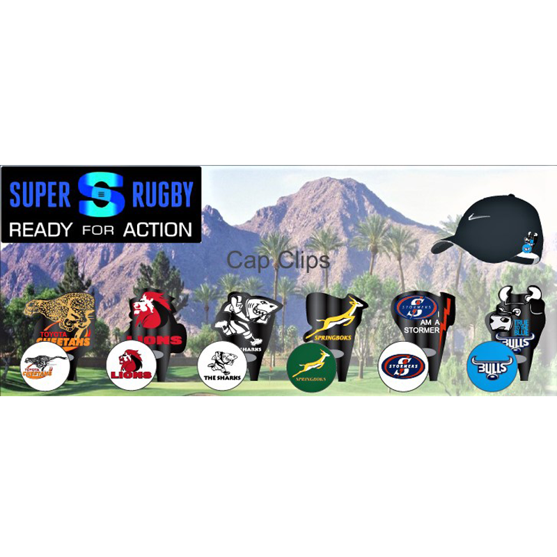 Capclips Super Rugby Custom Shaped Executive Cap Clips