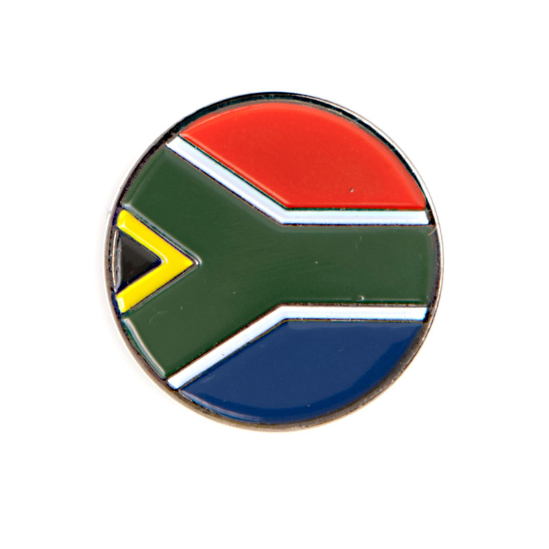 Custom SA FLAG Die Struck 24mm Ball Marker Disc 1