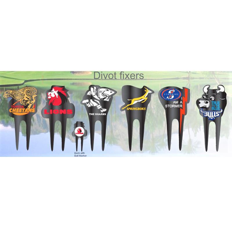 Divot tools SPRINGBOK Super Rugby Custom Shaped Executive Divot Too