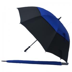 Golf Umbrella Black Blue UV Gustbuster Steel