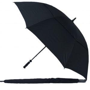 Golf Umbrella Black UV Gustbuster Fibre Golf Umbrella e1559893617194