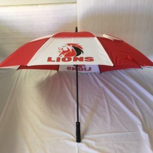 LIONS Red White Gust Buster Umbrella
