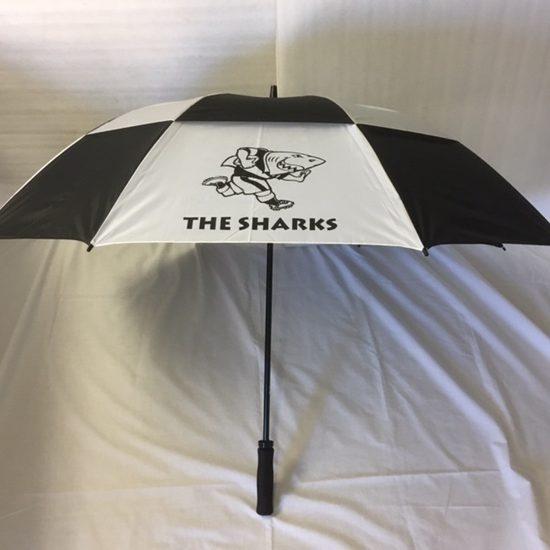 SHARKS Black White GustBuster Umbrella