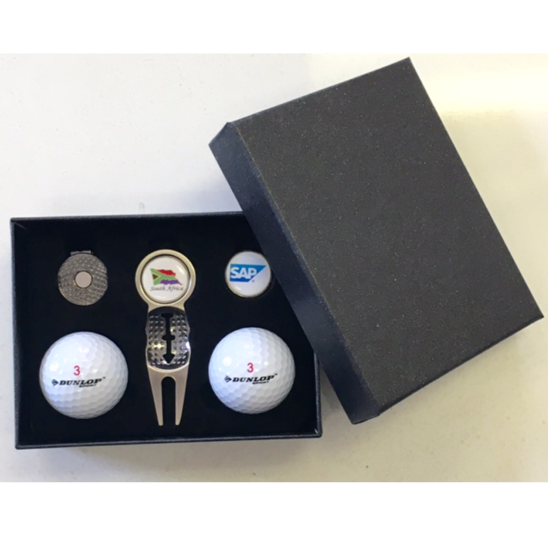gift sets Gift box with 2 balls Divot Tool Cap Clip 2 Ball Markers