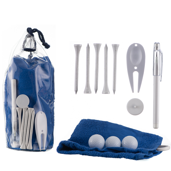 gift sets Goodie Bag with 3 Golf Balls 5 tees marker pencil and towel