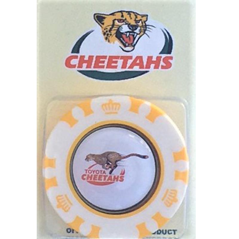plastic poker chipCHEETAHS Poker Chip Magnetic 24mm Ball Marker