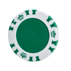 plastic poker chipPoker Chip Ball Marker including 24mm Disc Green