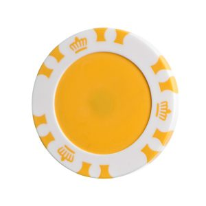 plastic poker chipPoker Chip Ball Marker including 24mm Disc YELLOW