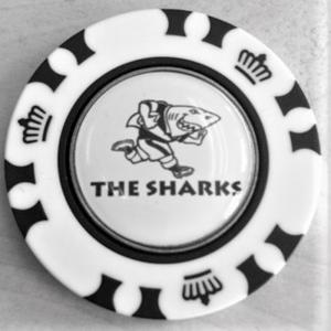 plastic poker chipSHARKS Poker Chip Magnetic 24mm Ball Marker