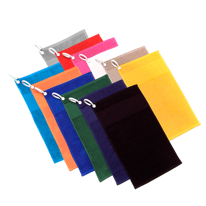 400gsm Golf Towels 50 x 30 including eyelet Plastic clip